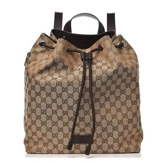 Gucci Drawstring Backpack Monogram GG Beige/Brown