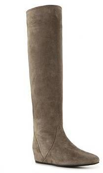 Lanvin Suede Over the Knee Wedge Boot