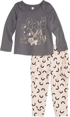 Tea Collection Pack of Pups Tee & Leggings Set
