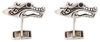 John Hardy Silver and Sapphire Legends Naga Cufflinks
