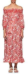 Lisa Marie Fernandez Women's Tomato Floral Linen Belted Dress - Tomato Floral