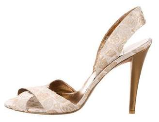 Salvatore Ferragamo Metallic-Accented Brocade Sandals
