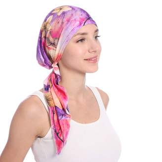 Vertily Hat Vertily Mutilcolor Women's Pre-tie Hair Tail Head Scarf Wrap Muslim Beanie Hat