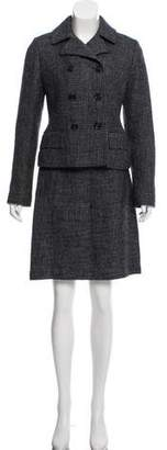 Burberry Double-Breasted Skirt Suit