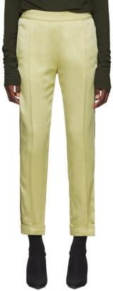Haider Ackermann Yellow Kuiper Elastic Waistband Trousers