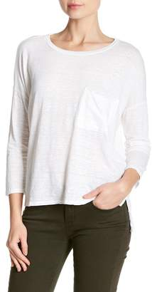 Velvet by Graham & Spencer Georgie 3/4 Length Sleeve Linen Blend Tee