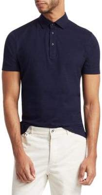 Brunello Cucinelli Solid Short Sleeve Polo