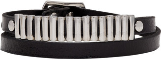 McQ Alexander Mcqueen Black Bullet Mini Wrap Bracelet $95 thestylecure.com