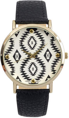 Journee Collection Womens Aztec Print Dial Watch