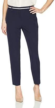 Adrianna Papell Women's Contrast Waist Bi Stretch Pant