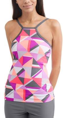 Free Tech Women's Sporty Swim High-Neck Halter Tankini Top
