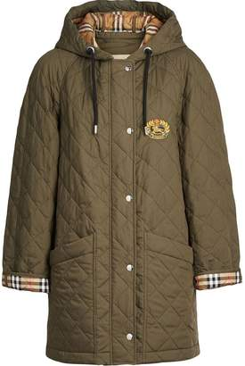 Burberry Lightweight Diamond Quilted Hooded Parka