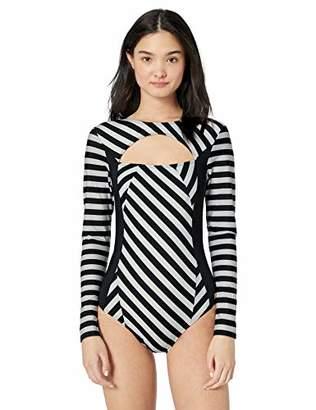 Roxy Women's Pop Surf Long Sleeve One Piece Swimsuit,M