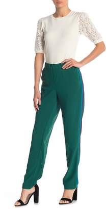 Anna Sui Glitter Side Stripe Crepe Pants