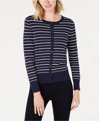 Charter Club Mixed-Stripe Cardigan, Created for Macy's