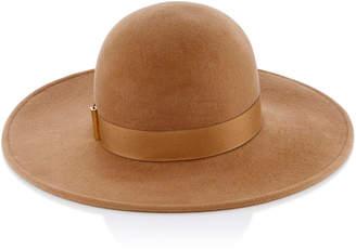 Gigi Burris Kyleigh Velour Finish Camel Wide Brim Felt Hat