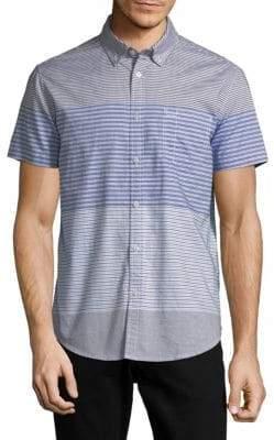 Calvin Klein Jeans Horizontal Yarn Dye Cotton Button-Down Shirt