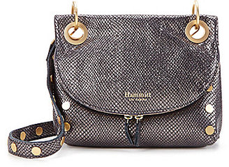 Hammitt Corey Metallic Snake-Print Saddle Bag $485 thestylecure.com