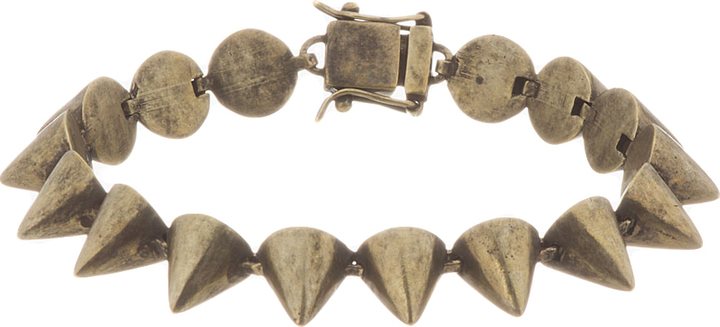 Eddie Borgo Gold Oxidized Stud Bracelet