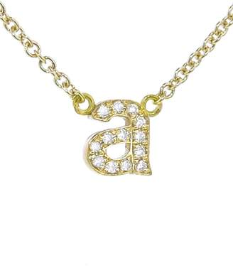 Jennifer Meyer Diamond Lowercase Initial Pendant Necklace - Yellow Gold