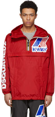 DSQUARED2 Red K-Way Edition Zipped Jacket