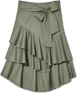 Vince Camuto Poplin Ruffled Skirt