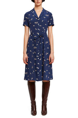 HVN Maria Button Down Pajama Dress
