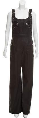 Kenzo Faux Leather High-Rise Jumpsuit