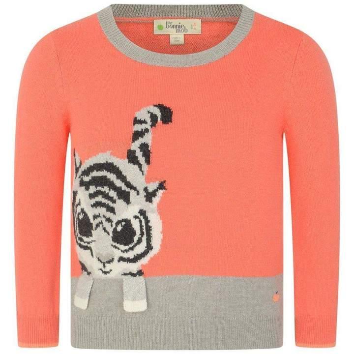 The Bonnie MobOrange Tiger Intarsia Sweater