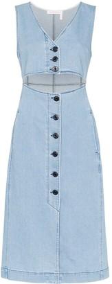 See by Chloe cut-out denim midi dress