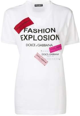 Dolce & Gabbana printed longline T-shirt