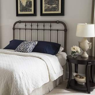 Leggett & Platt Vienna Metal Headboard Panel with Spindles and Intricately Carved Finials, Aged Gold Finish, Queen