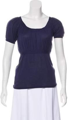 Prada Short Sleeve Knit Top