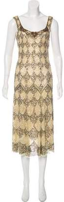 Blumarine Embellished Midi Dress