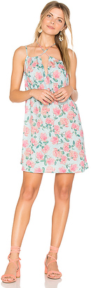 Wildfox Couture Dusty Rose Print Lily Slip Dress in Blue $98 thestylecure.com