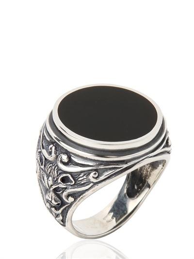 Manuel Bozzi Engraved Silver Ring