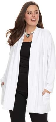 Dana Buchman Plus Size Shawl Collar Cardigan