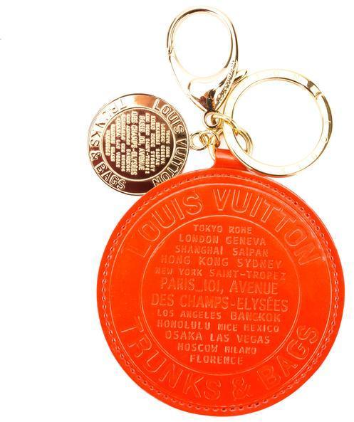 Louis VuittonLouis Vuitton Orange Sunset Monogram Vernis Leather T\/B Bag Charm (Pre Owned)