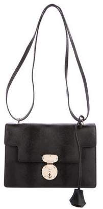 Giorgio Armani Textured Leather Shoulder Bag