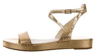MICHAEL Michael Kors Leather Buckle Strap Sandals