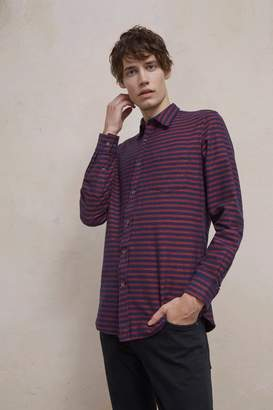 French Connenction Flannel Striped Shirt
