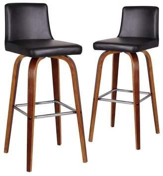 Set of 2 Ziggy High Back Barstools