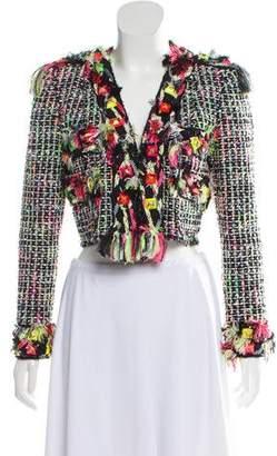 Marc Jacobs Tweed Embellished Blazer