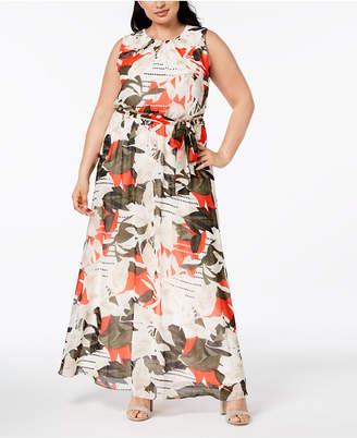 Calvin Klein Plus Size Printed Maxi Dress