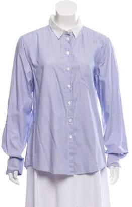 Band Of Outsiders Pinstripe Button Up Top