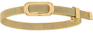"Italian Gold 7"" Oval Buckle Adjustable Bracelet"