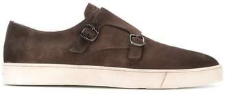 Santoni buckled monk sneakers