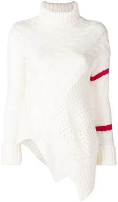 Preen Line flared knitted sweater