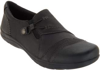 Earth Origins Leather Slip-On Shoes - Tasha