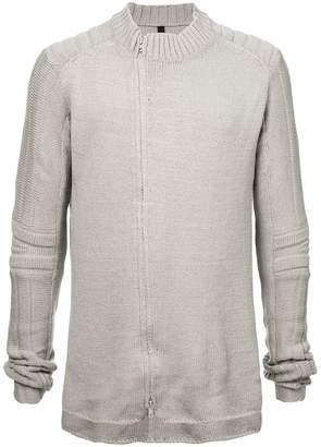 Nude zipped sweater